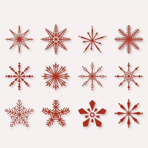 Mooie Winter sneeuwvlokken set elementen vector