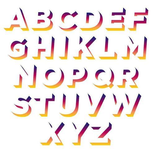 Kleurrijke schaduwruimte typografie vector