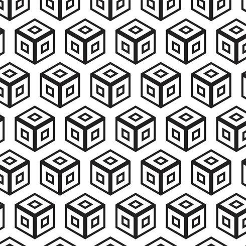 Moderne abstracte geometrische naadloze patroon vector