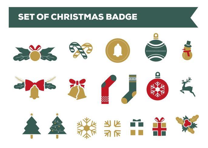Kerst Badge Collectie vector