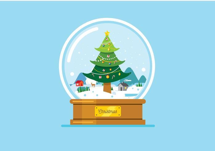 Kerstmis kristallen bol achtergrond vector