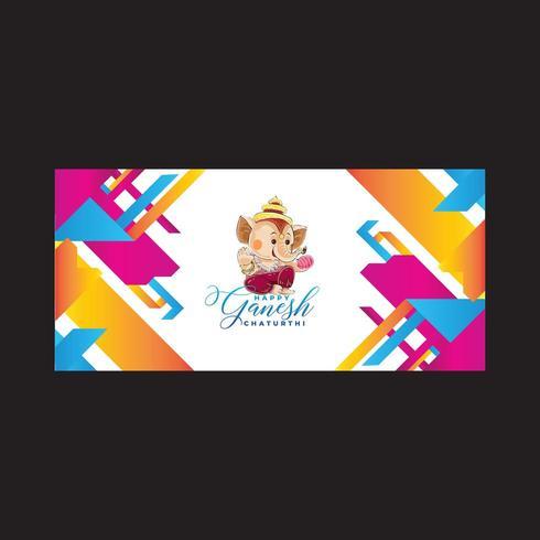 Gemengde kleuren abstracte achtergrond Ganesh vector