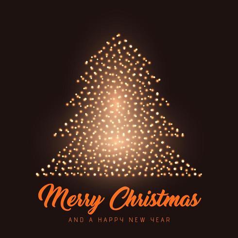 Gloeiende Kerstboomachtergrond vector