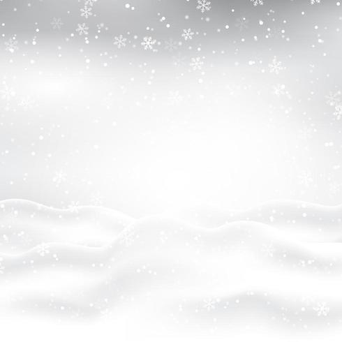 Besneeuwde kersttafereel vector