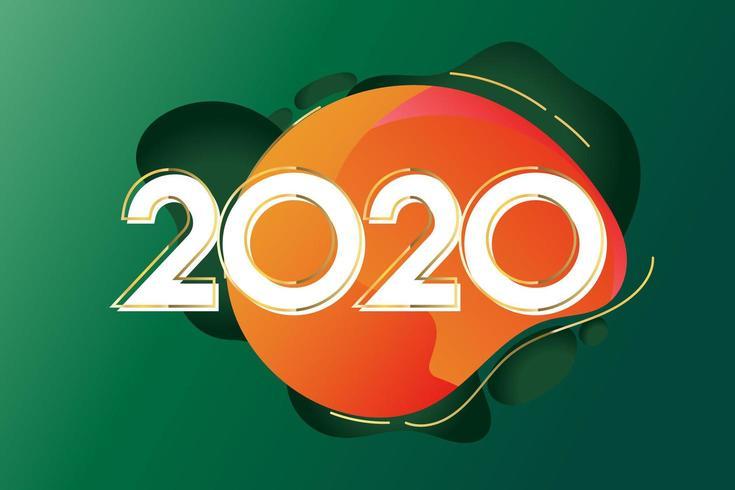 2020 nieuwjaar creatief ontwerp vector