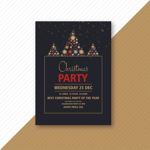 decoratieve kerstfeest flyer vector