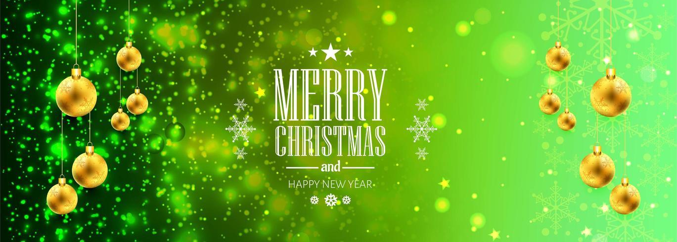 Kerst banner voor Kerst bal voor glanzende glitters achtergrond vector