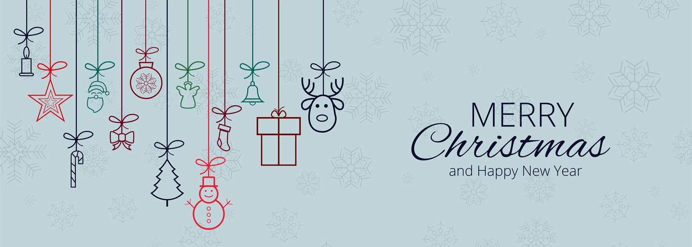 Merry Christmas-achtergrond voor de bannerachtergrond van Kerstmiselementen vector