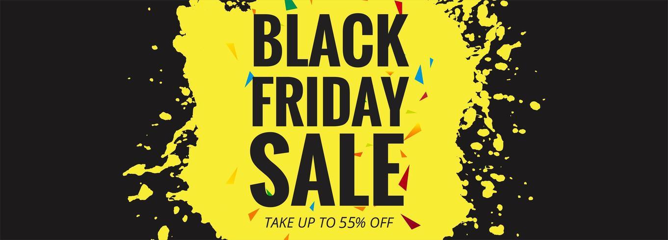 Zwarte vrijdag verkoop banner lay-out ontwerp vectorillustratie vector