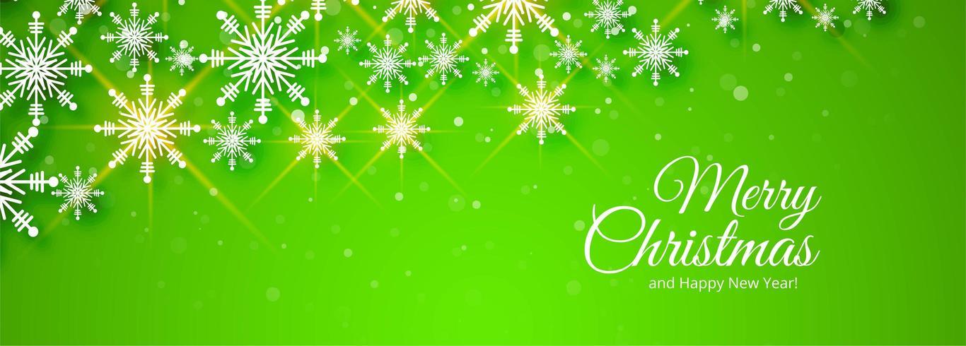 vrolijk kerstfeest groen spandoekontwerp vector