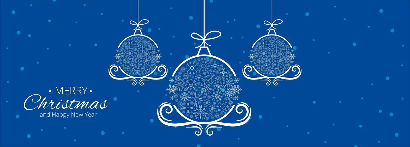 Kerstvieringen kaart banner sjabloon vectorillustratie vector
