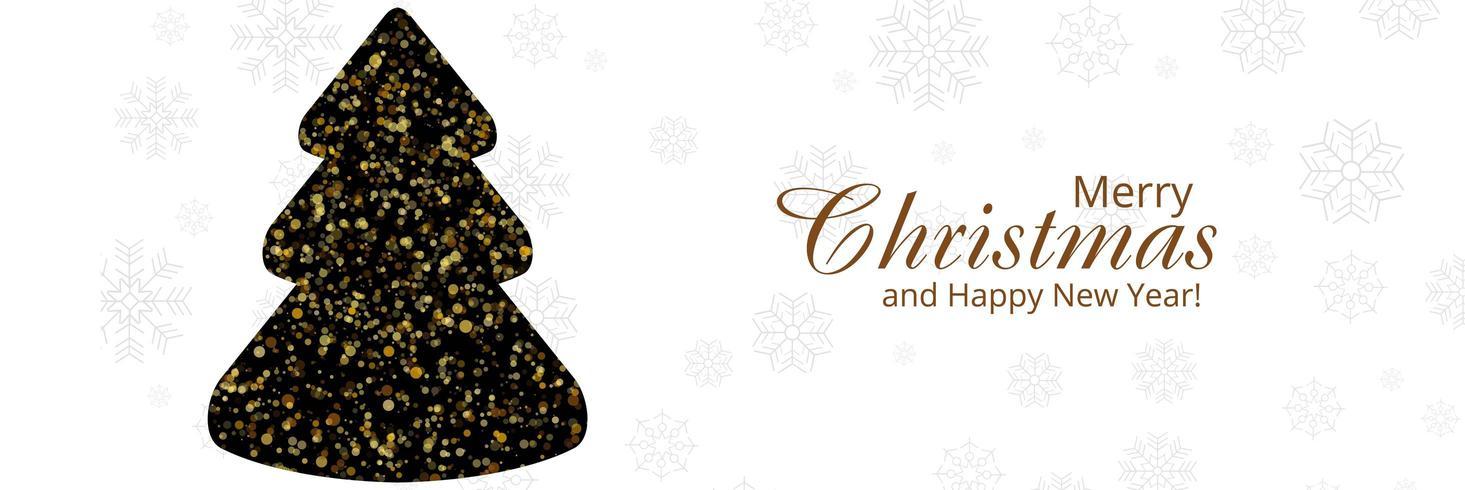 elegante kerstboom kaart viering banner achtergrond vector