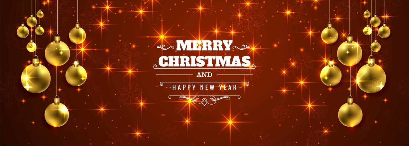 viering kaart vrolijk kerstbal banner ontwerp vector