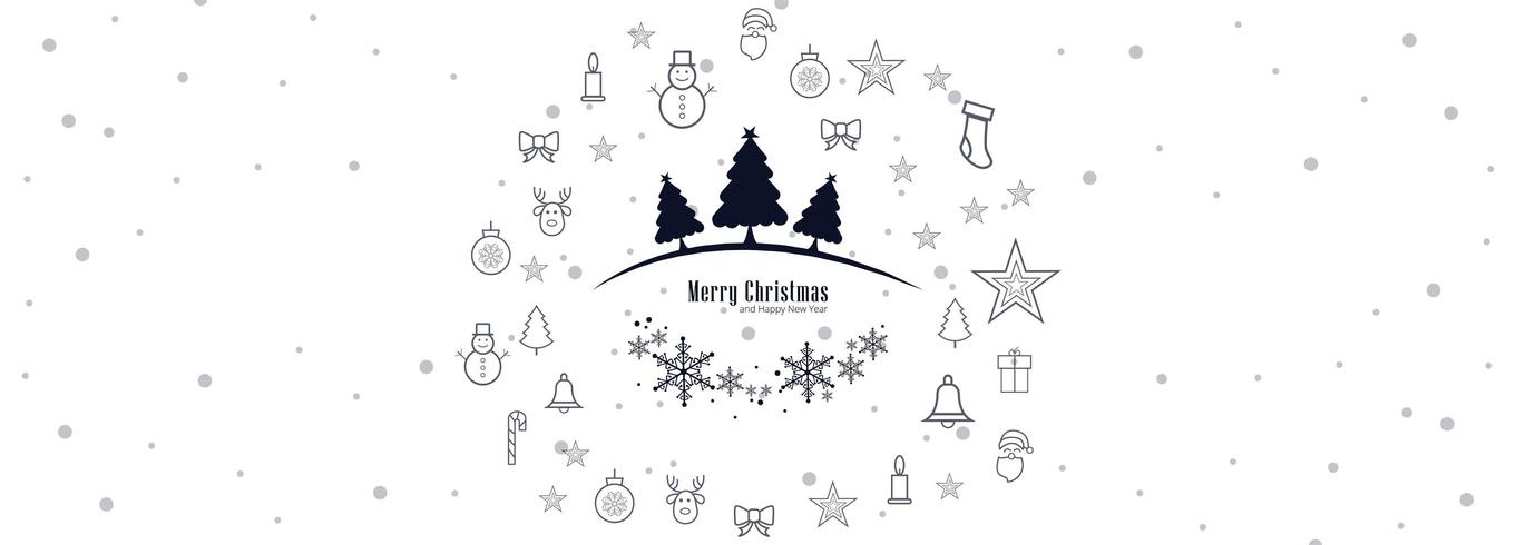 Merry Christmas banner horizontale achtergrond vector