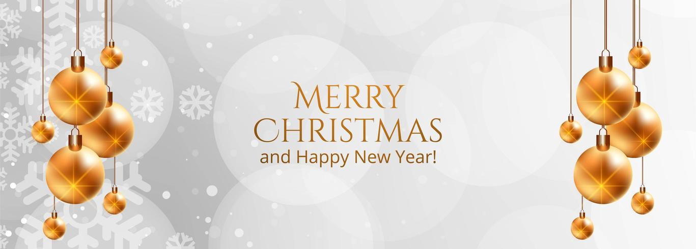 Vakantie kerst decoratieve bal banner vector