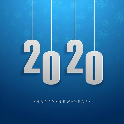 2020 tekst Gelukkig Nieuwjaar vakantie Vector achtergrond