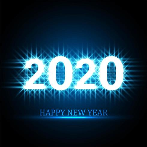 2020 Gelukkig Nieuwjaar tekst viering kaart ontwerp vector