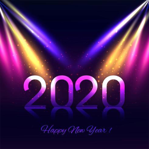 Disco verlicht 2020 nieuwe jaarachtergrond vector