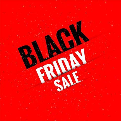 Knip papier effect zwarte vrijdag verkoop achtergrond vector