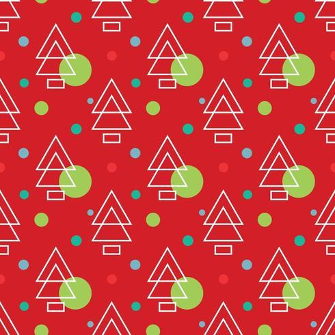 Eenvoudige grenen christmass patroon vectorillustraties vector