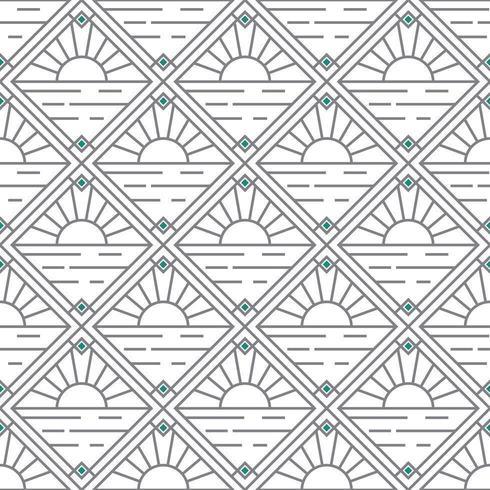 eenvoudig zonsondergang en diamantartdeco-patroon vector