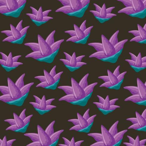 paarse natuur bloemen decoratie vector