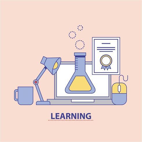 leren onderwijs chemie concept vector