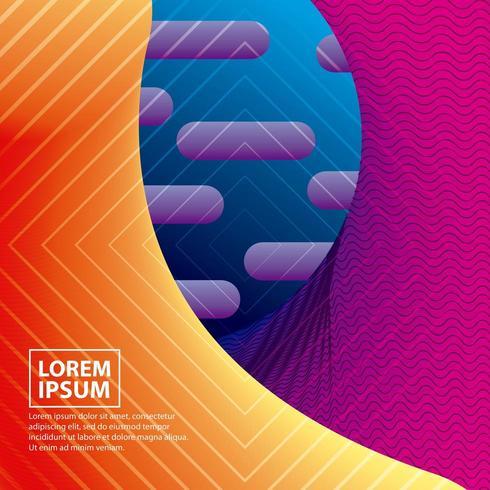 abstracte covers met geometrische vloeiende neonfiguren vector