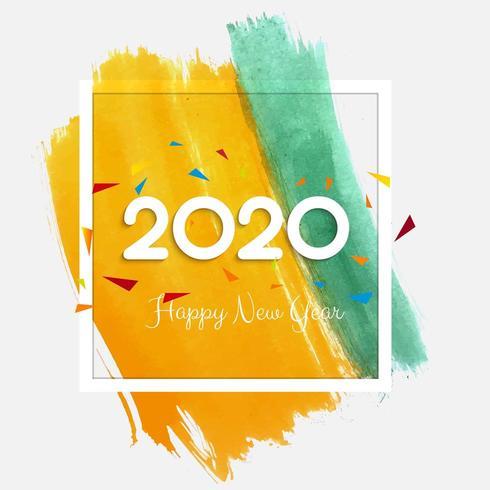 2020 nieuwjaar achtergrondviering vector