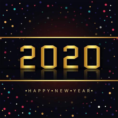 Gelukkig nieuwjaar 2020 vector