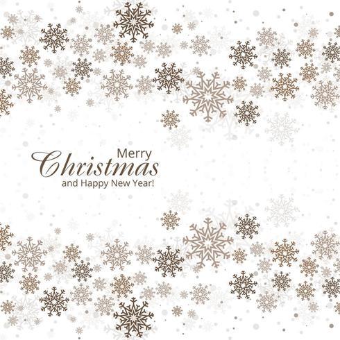 De winterachtergrond met ontwerp van de sneeuwvlokken het vrolijke Kerstkaart vector