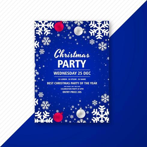 Kerstfeest viering flyer vector