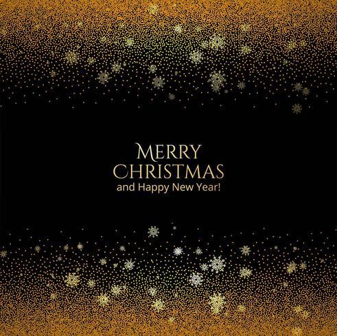 Merry Christmas card glanzende gouden glitters achtergrond vector