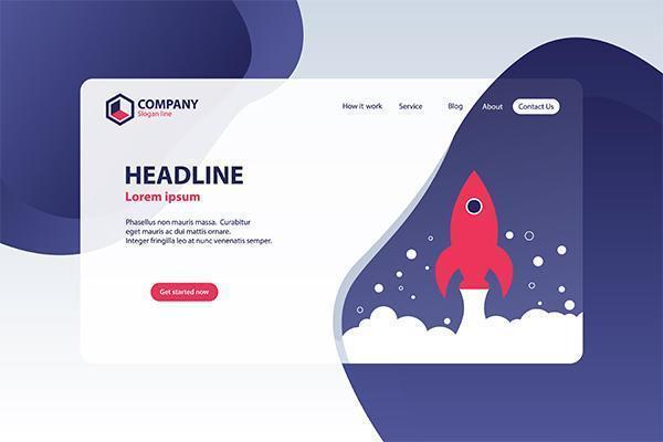 Boost Business Website Landingspagina Vector sjabloon ontwerpconcept