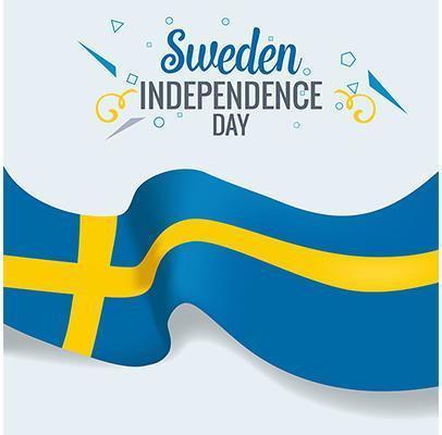 zweden indenpedence dag viering banner vector