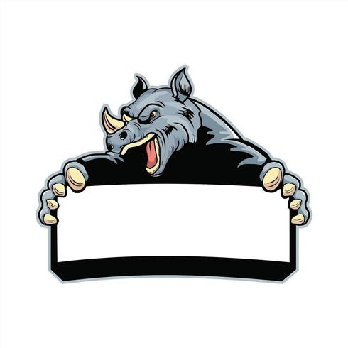Boos Rhino-karakter vector