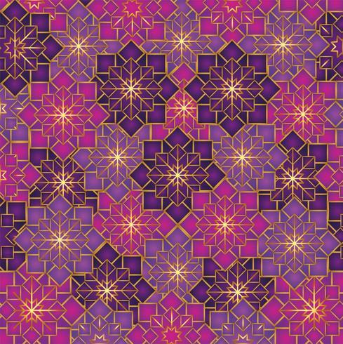 geometrische bloemen patroon decoratie achtergrond vector