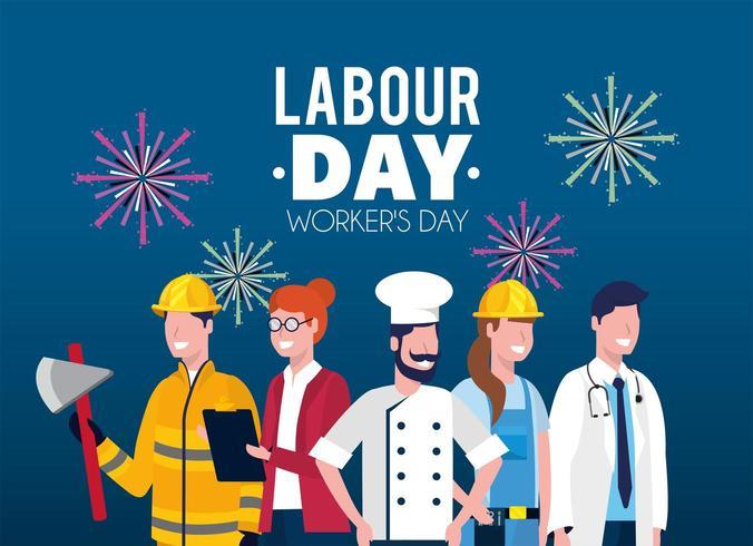 professionele werkgevers tot arbeidsdag vakantie vector
