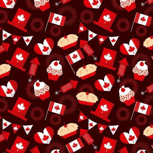 Canada dag elementen naadloos patroon vector