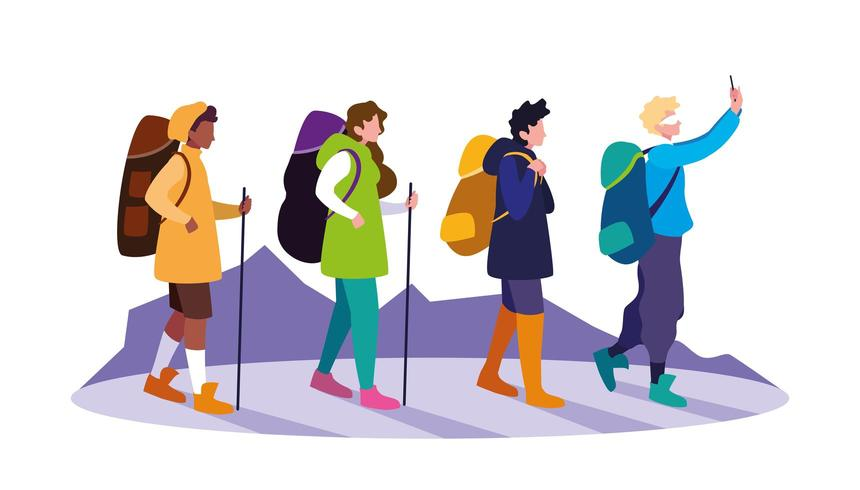 jongeren reiziger avatar karakter vector