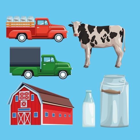 Cartoon boerderij set vector