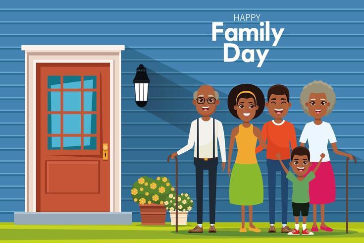 Gelukkige familiedag vector