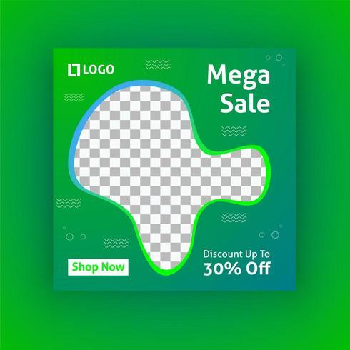 Mega verkoop sociale media post sjabloon vector