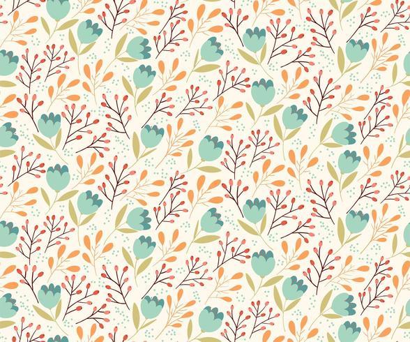 Zacht bloemen naadloos patroon vector