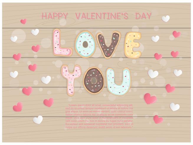 Valentijnsdag groet vector