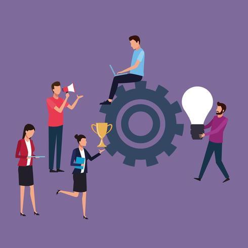 teamwork creatief ontwerp vector