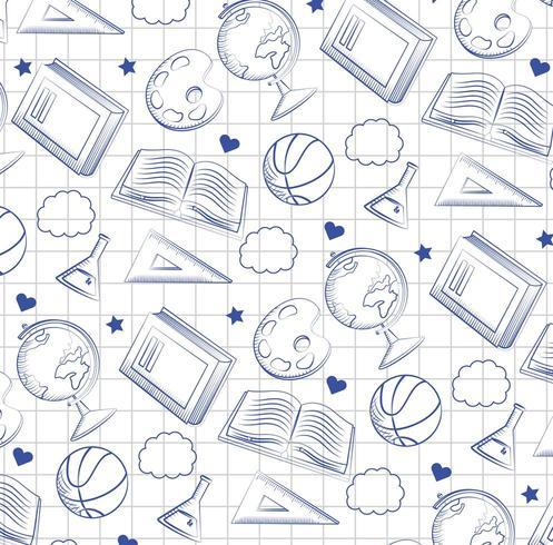 globaal kaartbureau met erlenmeyer-fles en achterbord vector