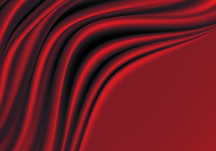 Rode zijde stof met lege ruimte luxe achtergrond. vector