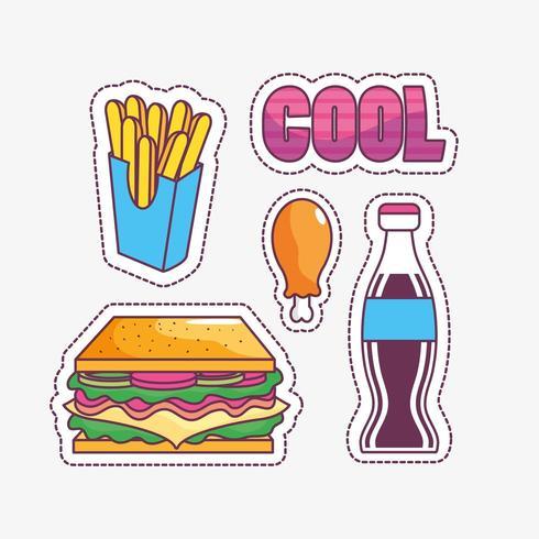 Smakelijk en fastfood ontwerp vector