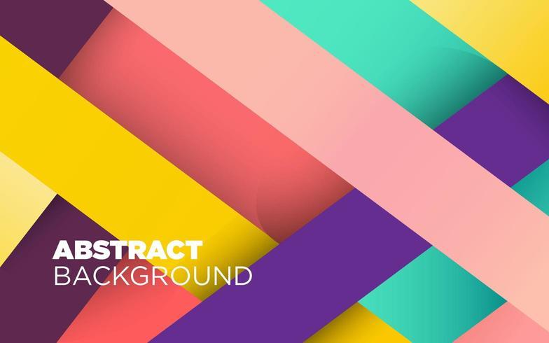 Kleurrijke gestreepte abstracte achtergrond vector